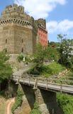 城堡Schoenburg桥梁 免版税图库摄影