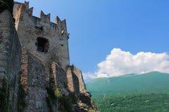 城堡Scsligeri在意大利 库存图片