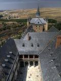 城堡segovia西班牙 免版税图库摄影