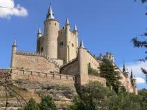 城堡segovia西班牙 库存照片