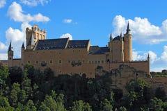 城堡segovia 卡斯蒂利亚利昂y 免版税库存图片