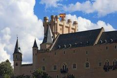 城堡segovia 卡斯蒂利亚利昂y 库存照片