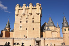 城堡segovia 库存照片