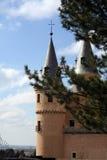 城堡segovia 免版税库存图片