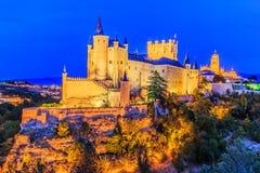 城堡segovia 库存图片