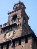 城堡sforzesco塔 免版税库存图片