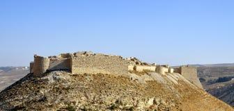 城堡Shobak在约旦。 免版税图库摄影