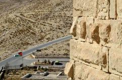 城堡Shobak墙壁。 免版税库存图片