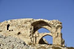 城堡Shobak废墟。 免版税库存照片