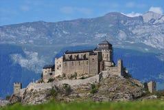 城堡sion瑞士valere 免版税库存图片