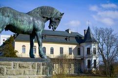城堡Slatinany 库存图片