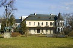 城堡Slatinany 免版税库存图片