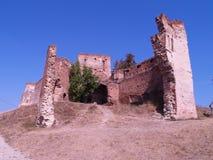 城堡slimnic transilvania 免版税图库摄影