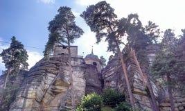 城堡Sloup v Cechach 库存照片