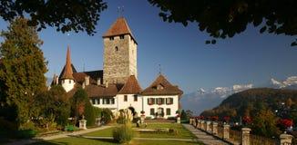 城堡spiez 免版税库存图片