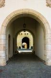 城堡Spilberk的入口门在布尔诺, 免版税库存照片