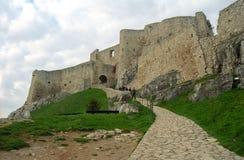 城堡spisky hrad的spi 库存图片