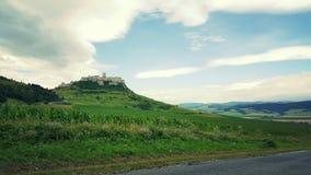 城堡spissky的斯洛伐克 免版税库存照片