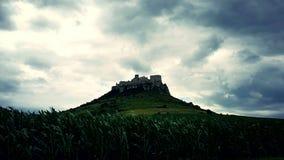 城堡spissky的斯洛伐克 库存图片