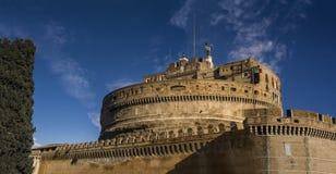 城堡st安吉洛弗朗切斯科教皇 免版税库存照片