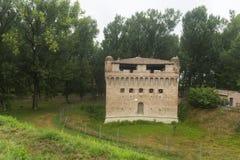 城堡Stellata (费拉拉) 库存照片