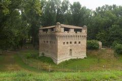 城堡Stellata (费拉拉) 库存图片