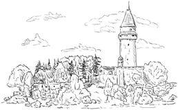 城堡Stramberk 免版税库存图片