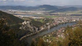城堡Strecno, Zilina,斯洛伐克 免版税库存图片