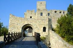 城堡strecno 库存照片