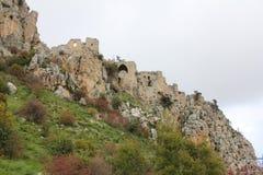 城堡sv Illariona 免版税库存照片