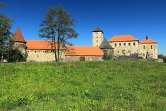 水城堡Svihov 库存图片