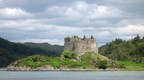 城堡tioram 库存照片