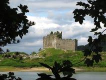 城堡tioram 免版税库存照片