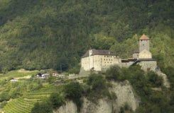城堡tirolo 库存图片