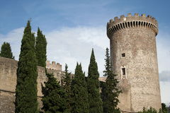 城堡tivoli 库存照片