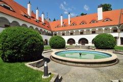 城堡topolcianky的斯洛伐克 免版税库存照片