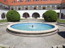 城堡Topolcianky,斯洛伐克 免版税库存照片