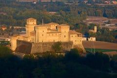 城堡torrechiara 免版税库存照片
