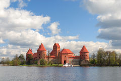 城堡trakai 库存照片