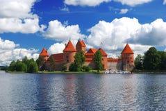 城堡trakai 库存图片