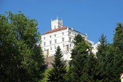城堡Trakoscan在克罗地亚 库存照片