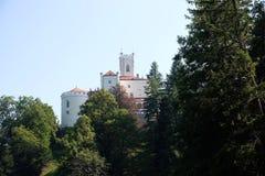 城堡Trakoscan在克罗地亚 免版税图库摄影