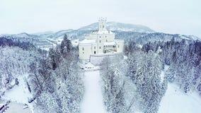城堡Trakoscan的鸟瞰图 股票视频