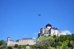 城堡trencin 免版税库存图片
