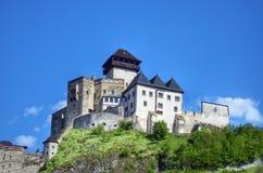 城堡trencin 图库摄影