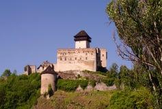 城堡trencin 免版税图库摄影
