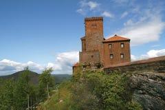 城堡trifels 免版税库存图片