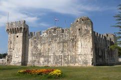 城堡trogir 免版税库存照片