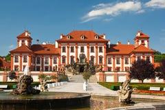 城堡troja 免版税图库摄影