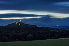 城堡Trosky 库存图片